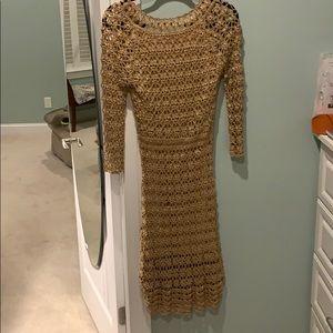 INC gold dress